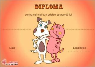 diploma cel mai bun prieten
